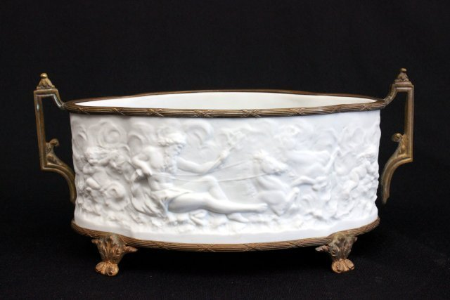 Bronze mounted French parian centerpiece