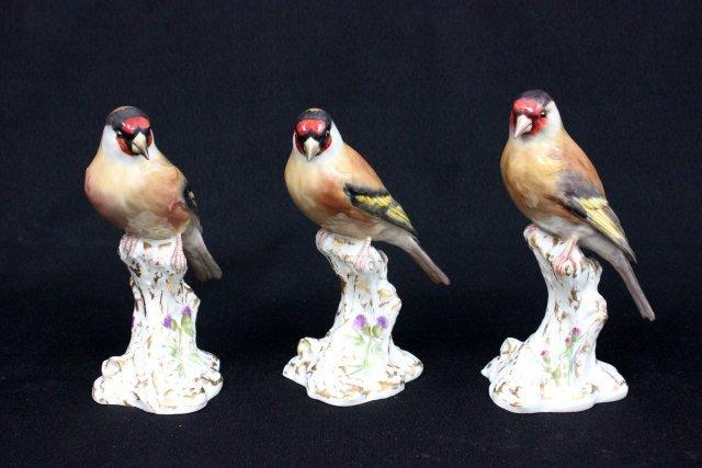 """3 Royal Worcester """"Birds"""""""