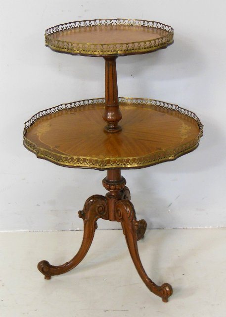 French inlaid 2 tier table