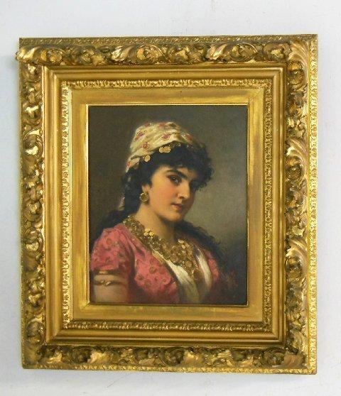 "A. Ebert oil painting ""Portrait of a Beauty"""