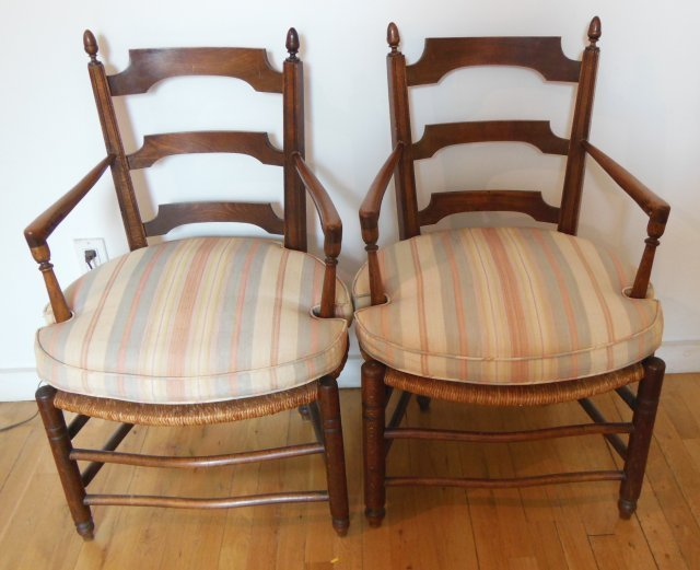Pair of French provincial style arm chairs
