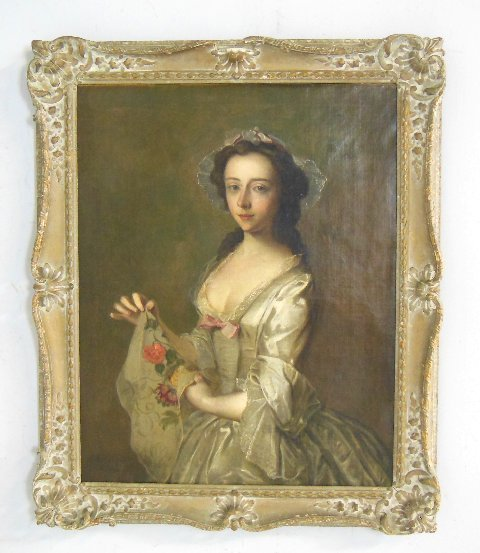 "Ph Mercier  oil painting ""Portrait of a Lady"""