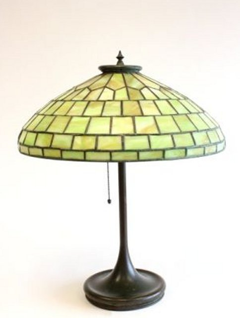 Stained glass lamp possibly Handel