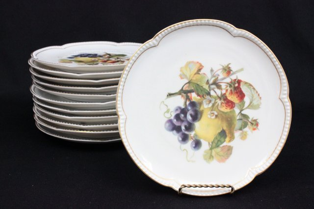 Selb Bavarian, Krautheim 12 fruit plates