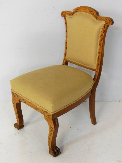 Inlaid claw foot chair