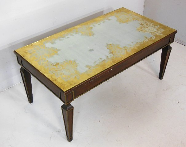 Mirror top center table ca. 1960's