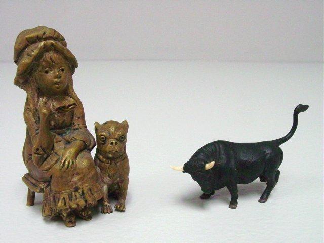 2 Miniature Vienna bronzes