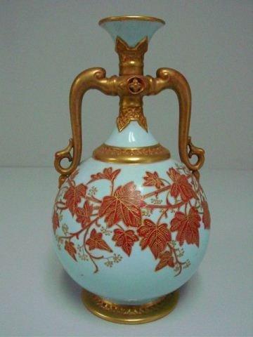Royal Worcester Robin's egg blue urn
