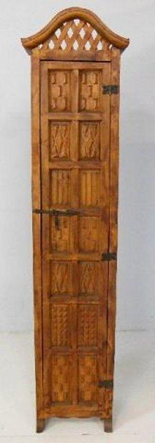 Carved unusual cupboard