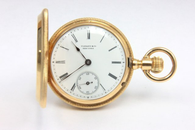 Tiffany 18kt  gold ladies pocket watch
