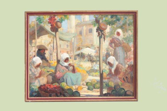Leon Charles Cannicioni oil painting