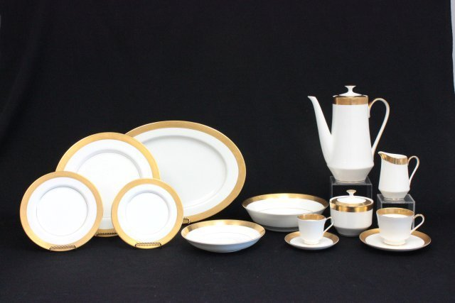 "Mikasa bone China dinnerware set ""Harrow"" pattern"