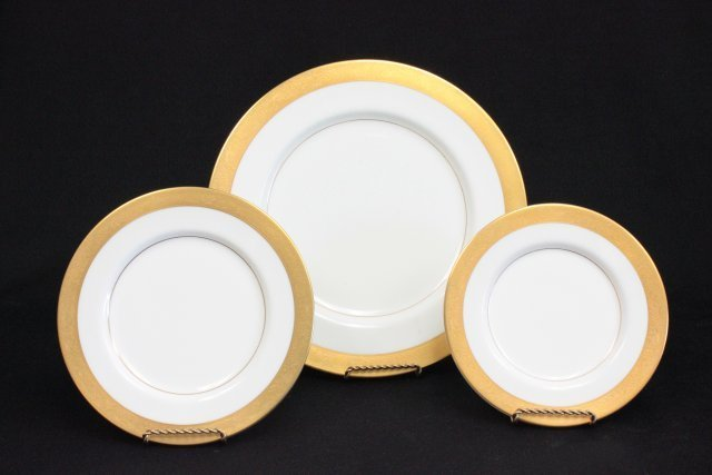 "Mikasa bone China dinnerware set ""Harrow"" pattern - 2"