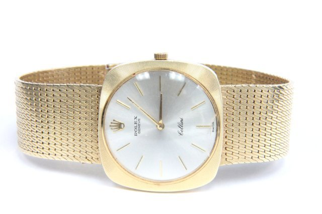 Men's yellow gold Rolex watch with 14tk gold band