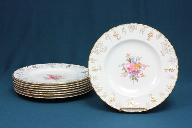 Set of 8 Royal Crown Derby dinner plates