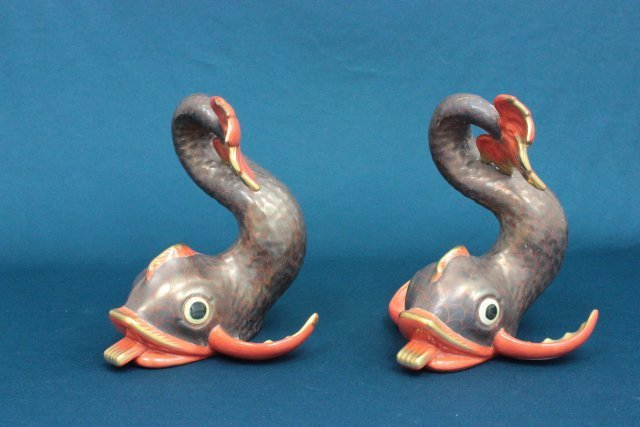 "Pair Herend porcelain ""Fish"""