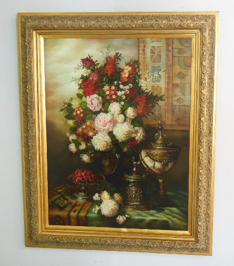 "Large contemporary ""Still Life"" oil painting"