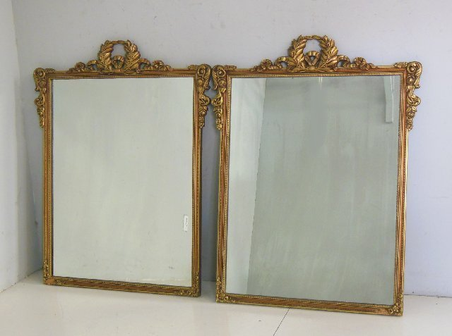 Pair gilt mirrors