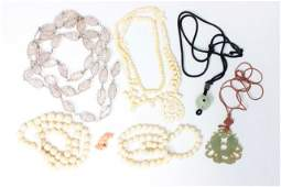 Group lot of Chinese necklaces
