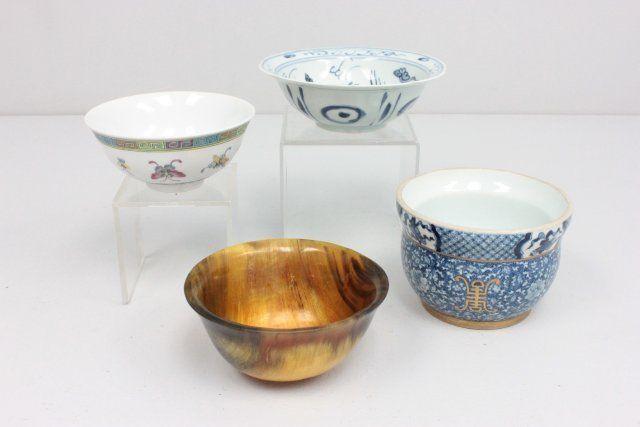 4 Chinese bowls