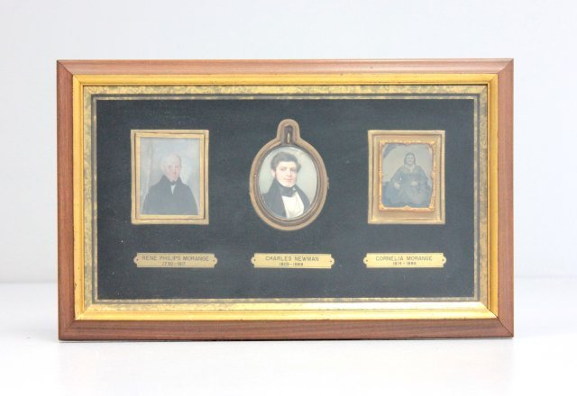 3 framed pictures of family members