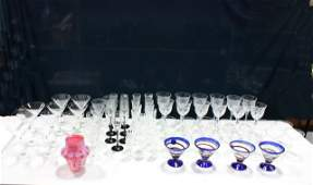 Group lot of assorted crystal stemware.