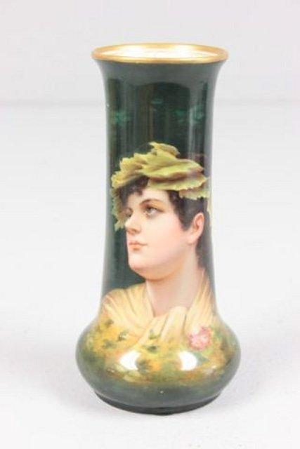 Signed Royal Schwarzberg portrait vase