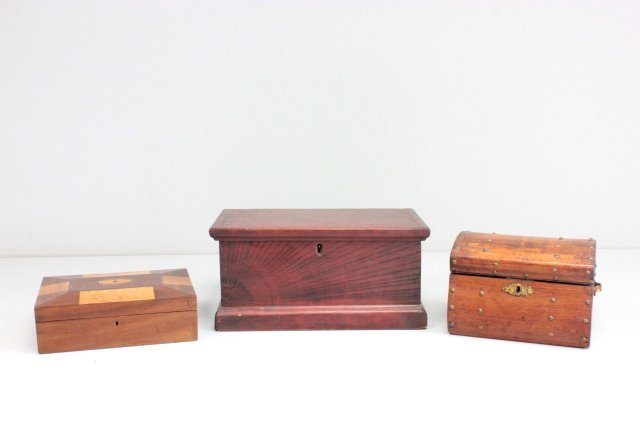 Group lot of 3 Victorian boxes