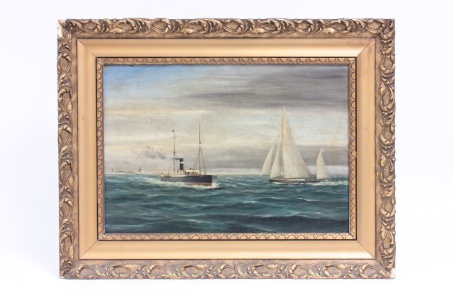Oil painting signed A. Vos