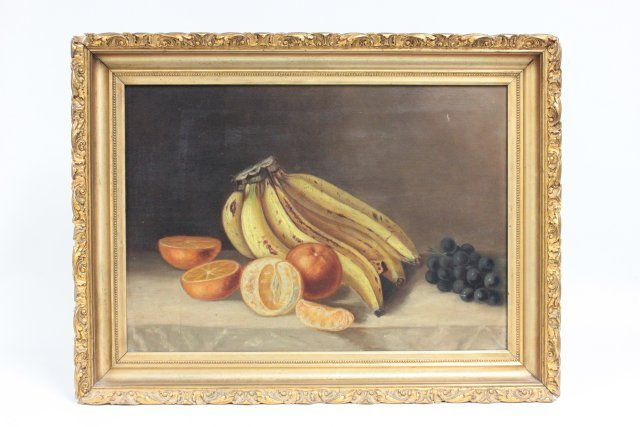 """Oil painting """"Still Life with Fruit & Bananas"""""""
