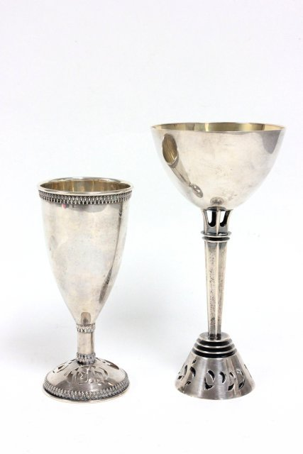 2 sterling silver wine cups
