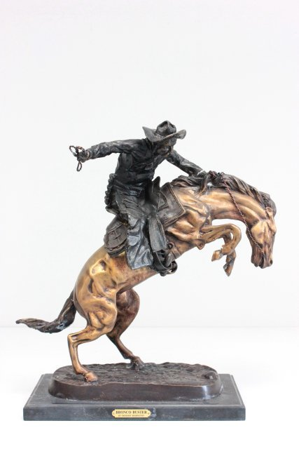 """Bronze reproduction """"Bronco Buster"""""""