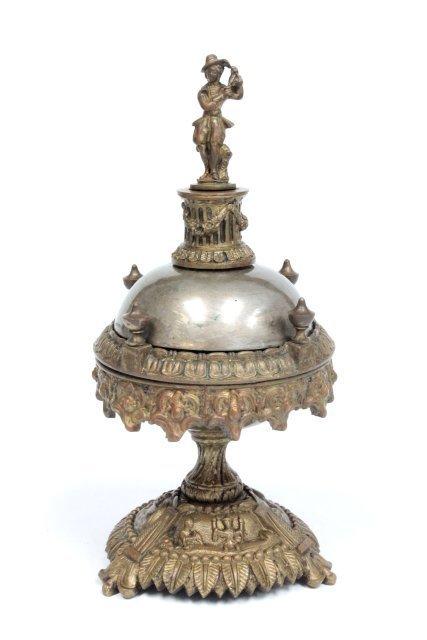 Bronze figural hotel bell ca. 19th c.