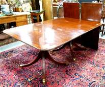 Baker Charlestown mahogany dining room table