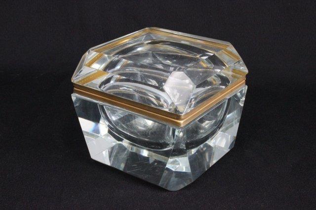 Crystal hinged box