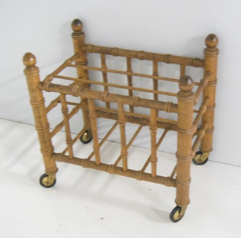 Faux bamboo magazine stand