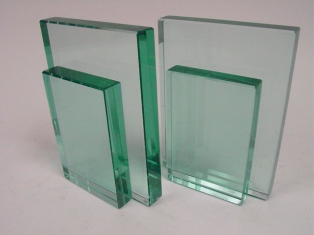 Pair modern possibly Italian glass bookends
