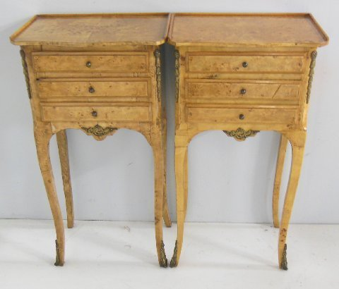 Pair Egyptian French style commodes