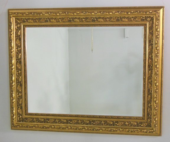 Reproduction gold beveled mirror