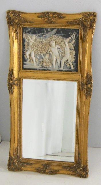 Reproduction gilt framed trumeau