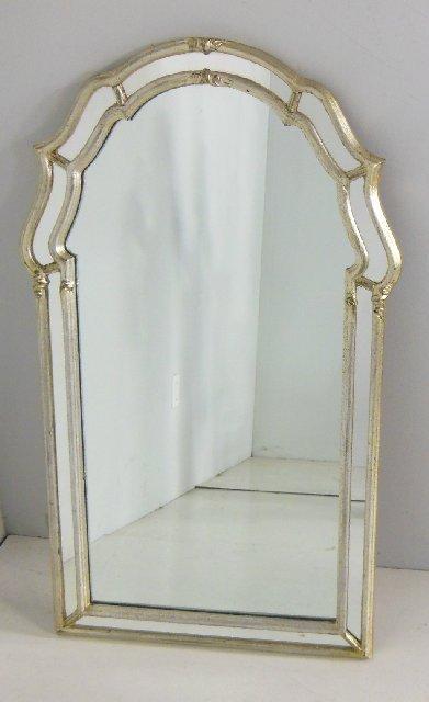 Silver framed mirror