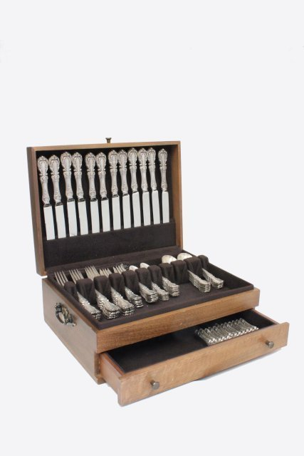 Sterling silver Burgundy flatware set