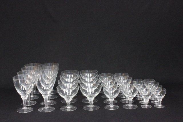 Modern 32 piece crystal stemware set