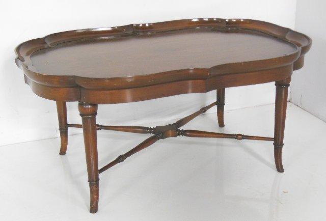 Faux bamboo mahogany coffee table