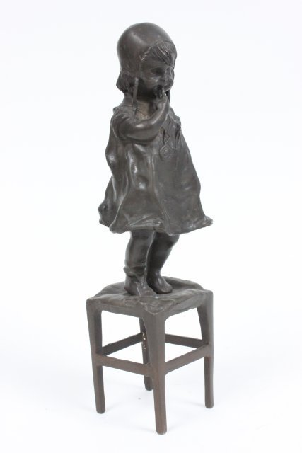 """Reproduction bronze """"Girl on Chair"""""""