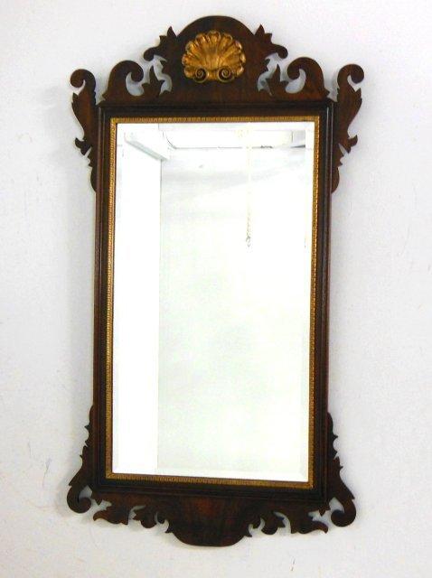 Mahagony beveled glass mirror