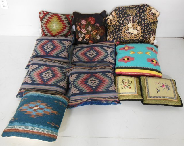Group lot of 11 pillows