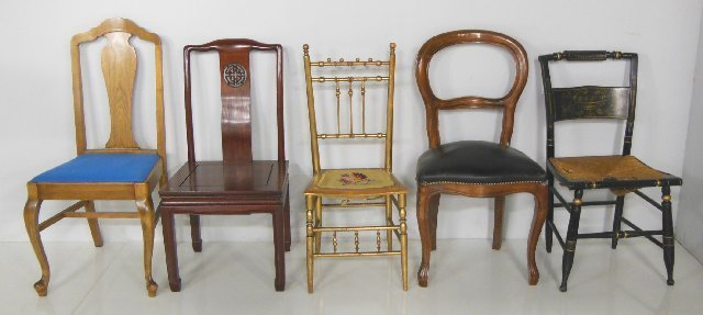 5 various chairs