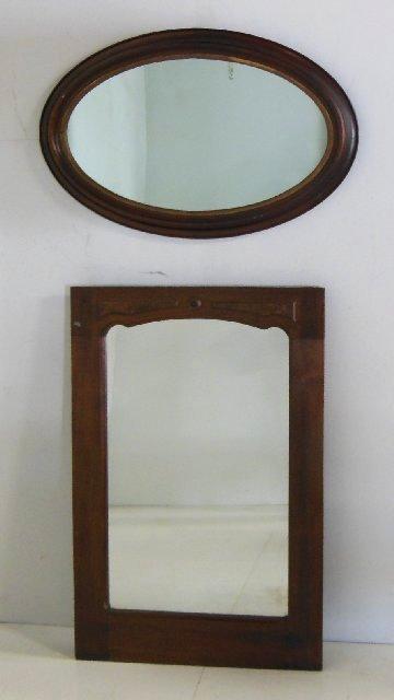 2 Victorian mirrors