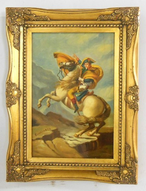 20th c. Painting on Porcelain 'Napoleon on Horse' - 2